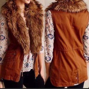 EUC Anthropologie Hei Hei faux fur vest - S